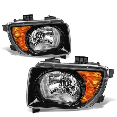For 03-08 Honda Element SC Headlight Black Housing Amber Corner Headlamp 04 05 06 07 SUV Automatic (Honda Element Headlight Headlamp)