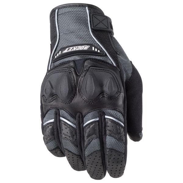 Joe Rocket Phoenix 4.0 Mens Grey Leather/Textile Motorcycle Gloves