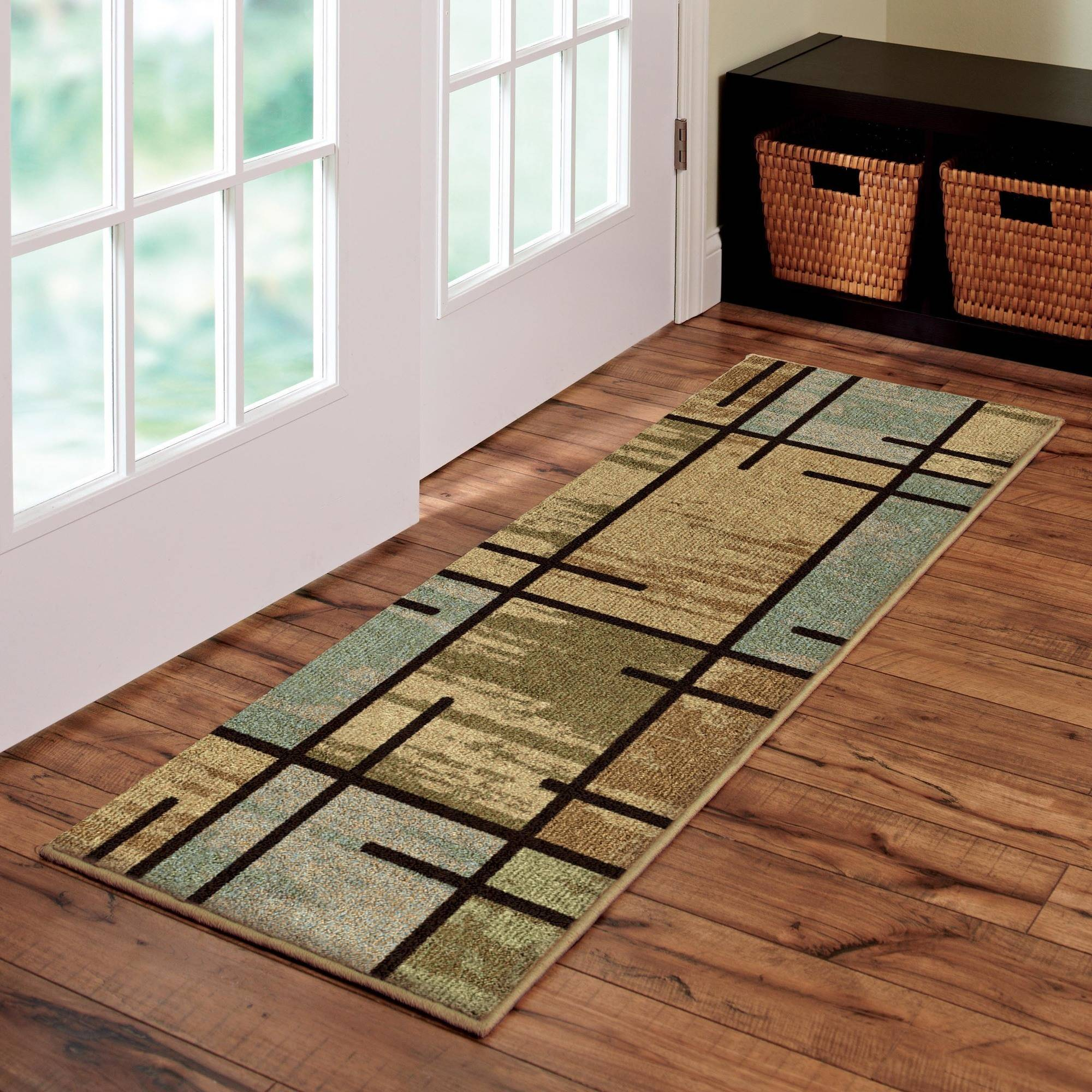 Better Homes and Gardens Spice Grid Area Rug by Orian Rugs