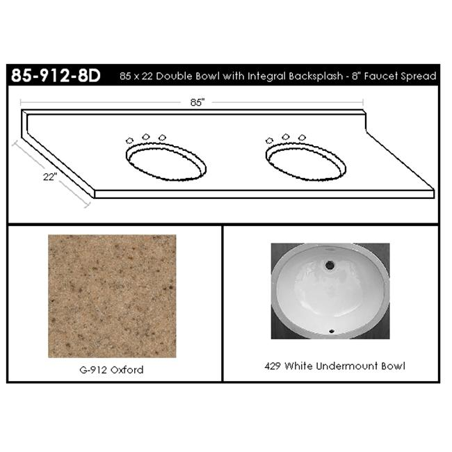 MarCraft 85-912-8D Double Bowl Vanity Top