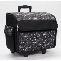Everything Mary Rolling Sewing Machine Tote, Black & White