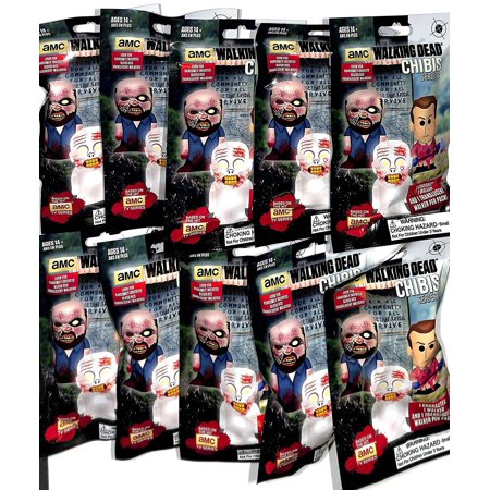 THE WALKING DEAD CHIBIS SERIES 2-- 10 SEALED PACKS NEW 3 CHIBIS IN A