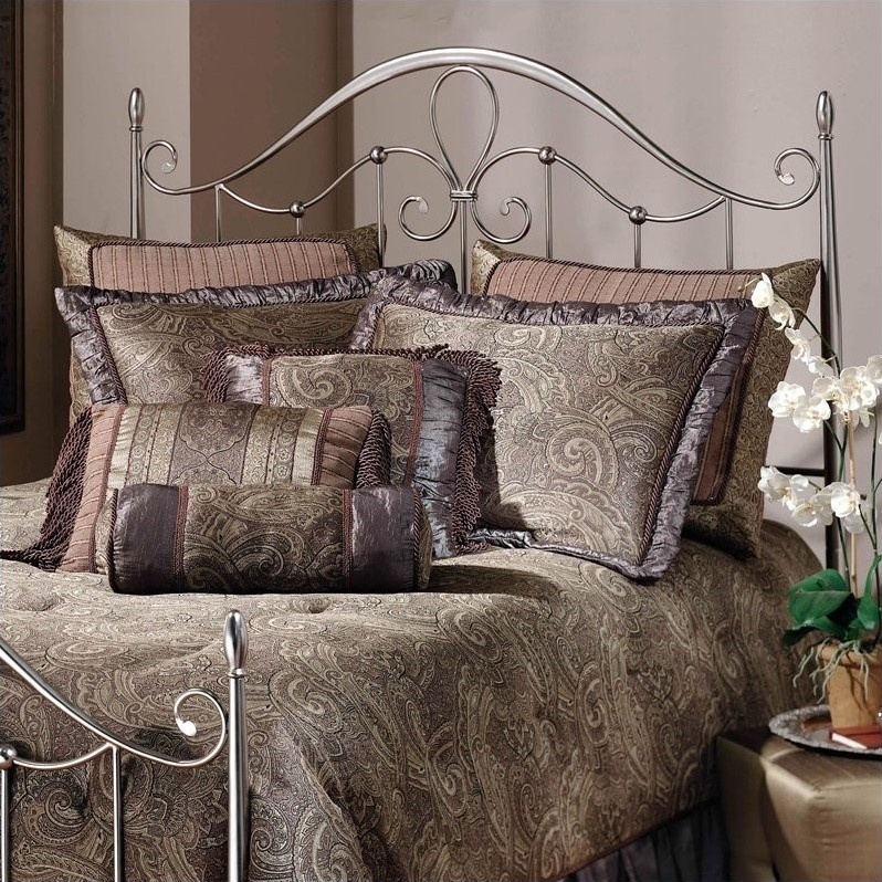 Hillsdale Doheny Spindle Headboard in Antique Pewter-Full/Queen