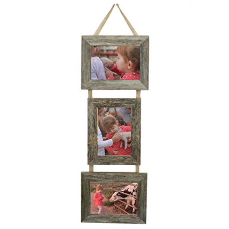 3 opening 5x7 frame landscape mybarnwoodframes reclaimed barn wood opening 5x7 collage picture frames on burlap ribbon landscape