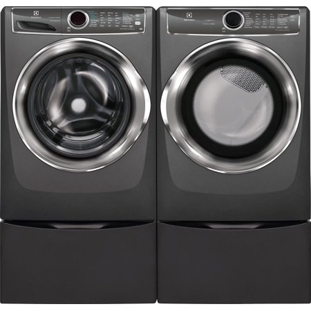 Electrolux Side by Side with Pedestals Laundry Pair Set, Front Load Steam...