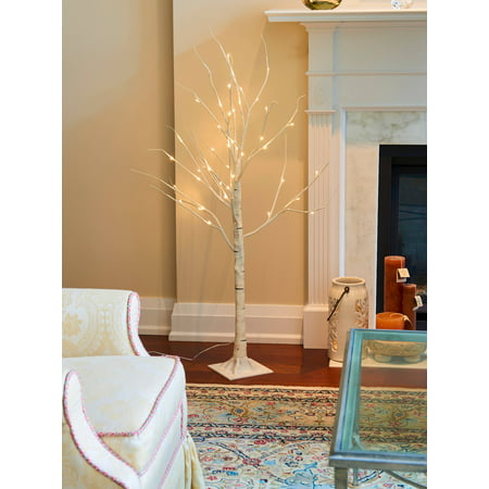 BIRCH TREE ON METAL BASE IN/OUTDOOR 48 LED 47 INCH HIGH WITH 8 LIGHTING MODES
