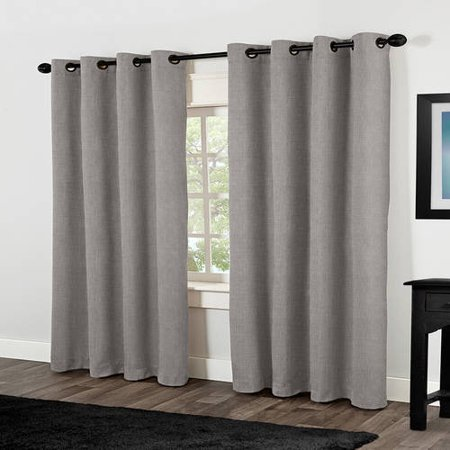 Amalgamated Textiles Rita Solid Room Darkening Thermal Grommet Curtain Panels (Set of 2)