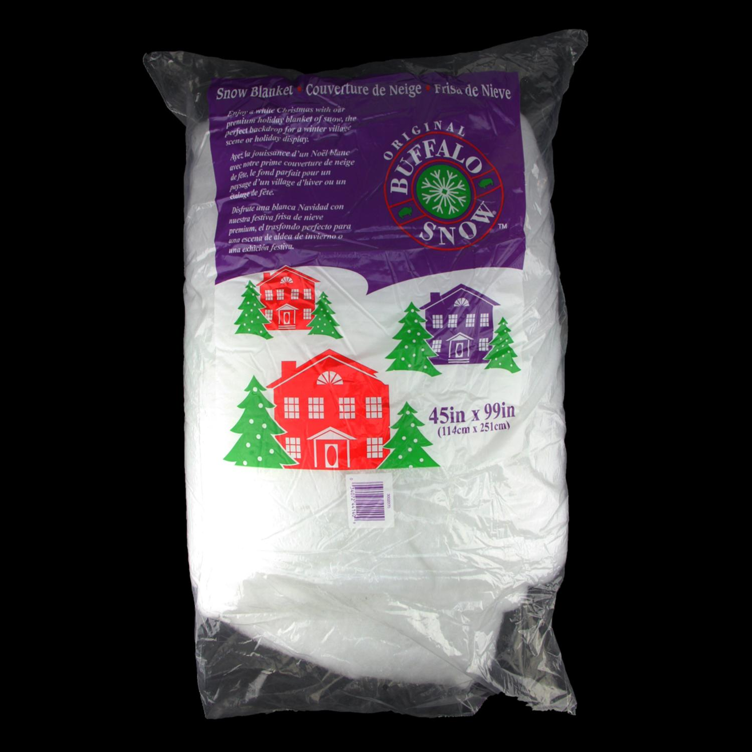 Quot white artificial powder snow christmas drape