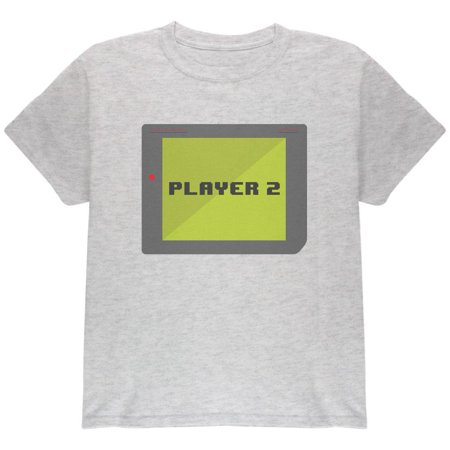 Halloween Old School Gamer Player 2 Youth T Shirt (Halloween Projects 2 Year Olds)