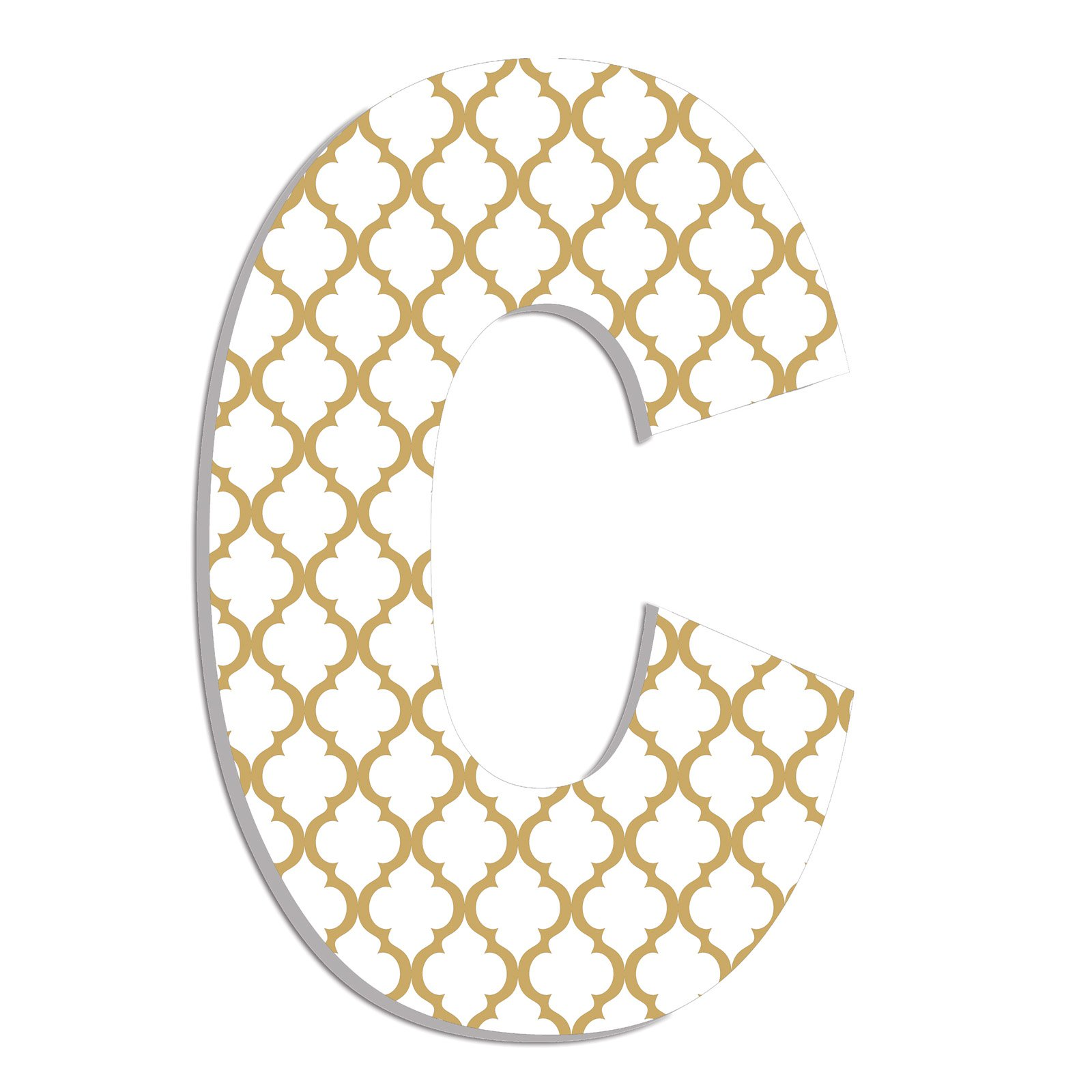 The Stupell Home Decor Collection Stupell Industries Oversized Gold Trellis Hanging Initial
