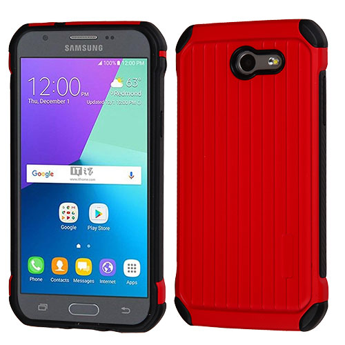 For Samsung Galaxy Express Prime 2/J3 Suitcase Hybrid Armor Protector Case Cover
