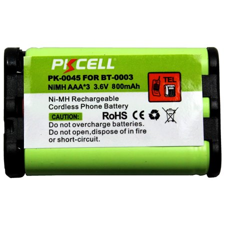Cordless Phone Replacement Rechargeable Ni-MH 800mAh Battery Pack, Compatible with Uniden, Southwestern Bell, Sony, Radio Shack, Original Manufacturers Part.., By PK (Best Cell Phone Battery Manufacturers)