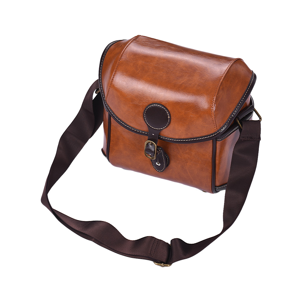Vintage PU Leather DSLR Camera Bag Case Shoulder Bag for Sony A6500 A7R A9 A7 II A7R-M3 A6000 A6300 Nex-5N 5R 5T