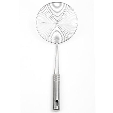 Stainless Steel Mesh Strainer,Ladle Spider Skimmer Colander Fry Cooking Spoon Noodle Basket Kitchen Utensil (6.7