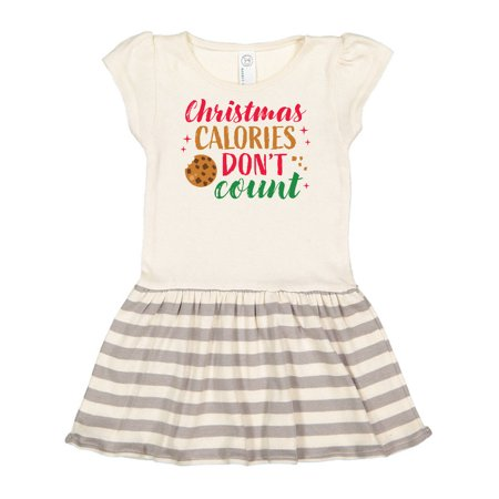 Christmas Calories Don't Count with Chocolate Chip Cookie Toddler Dress ()