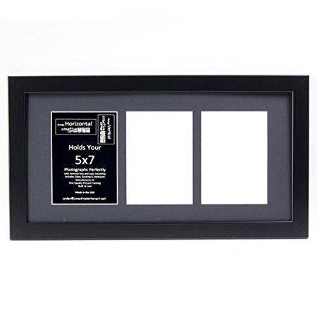 Creative Letter Art 3 Opening 5x7 Black Picture Frame With 10x20