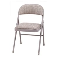 Fabric double padded folding chair - Motif chicory