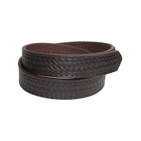Men's Big & Tall Leather Basketweave Hook and Loop Mechanics