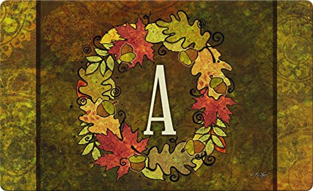 Squad Marketing Fall Wreath Monogram A 18 New X 30 Inch Decorative Autumn Floor Mat Colorful  sc 1 st  Walmart & Squad Marketing Fall Wreath Monogram A 18 New X 30 Inch Decorative ...