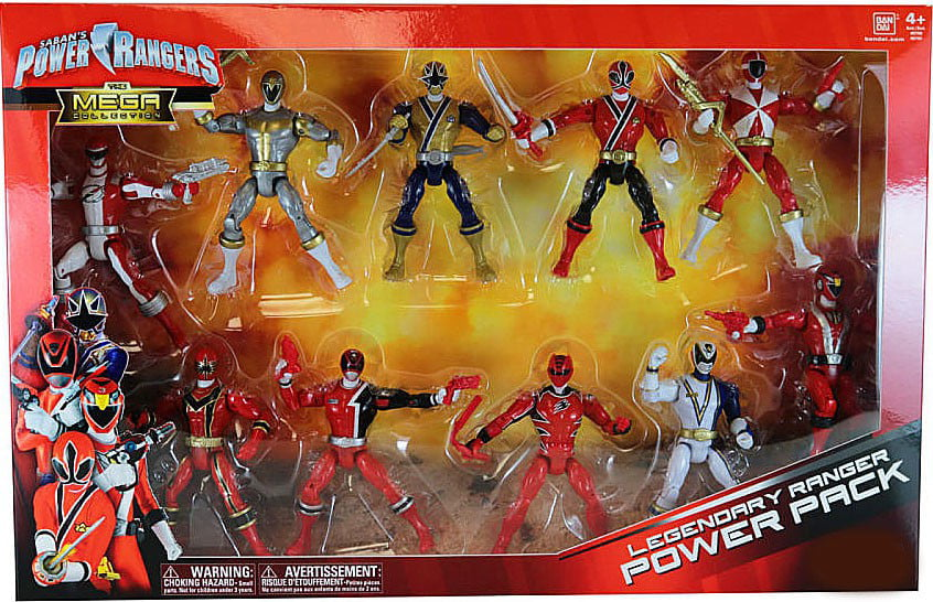 Power Rangers The Mega Collection Legendary Ranger Power Pack Action Figure Set by Bandai