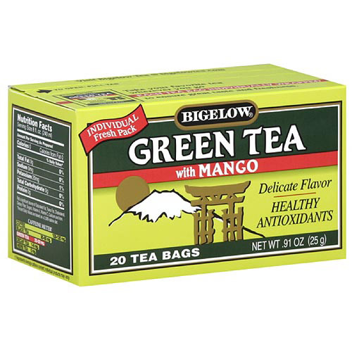 Bigelow Green Tea Bags With Mango, 20ct (Pack of 6)