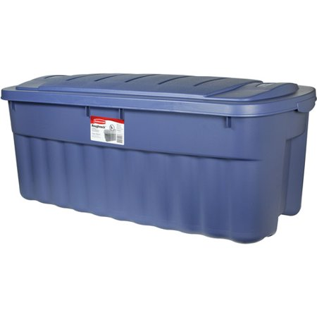 Rubbermaid 50 Gallon 200 Quart Roughneck Tote Blue Set
