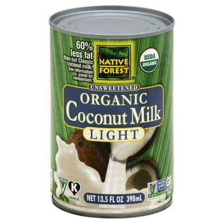 Native Forest Unsweetened Light Organic Coconut Milk, 13.5 Fo (Pack of