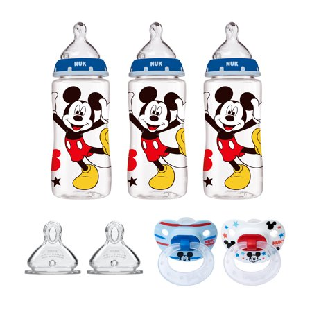 NUK Mickey Mouse Bottle & Pacifier Newborn (Nuk First Choice Bottle)