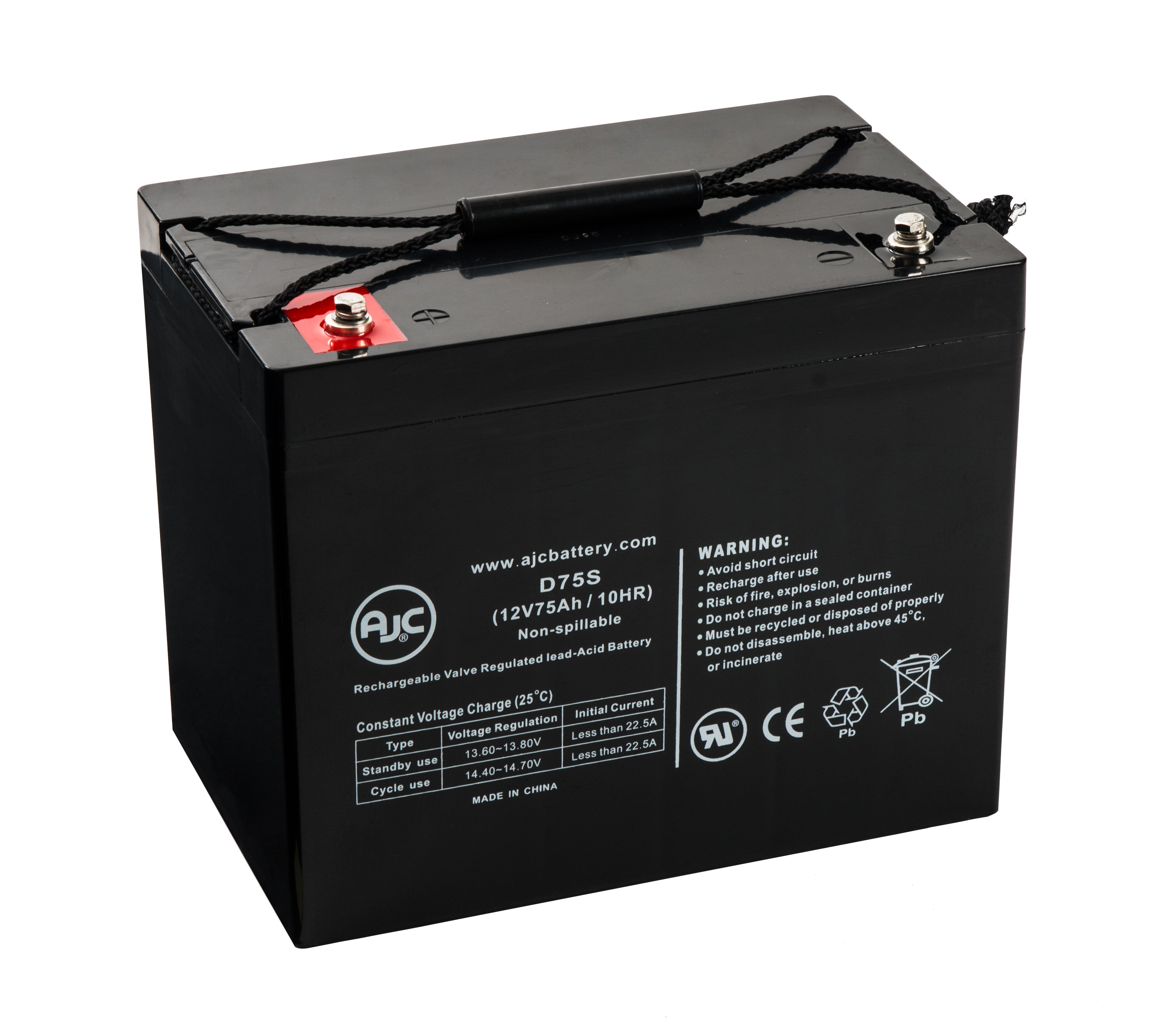 APC Smart-UPS UXBP24 12V 75Ah UPS Battery This is an AJC Brand Replacement by AJC Battery
