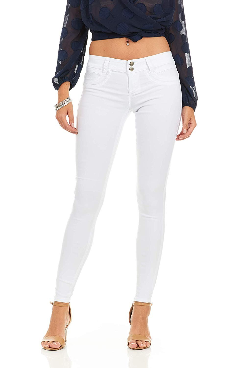 VIP Jeans Pants for women | Ultra Skinny Cigarette Butt Lift Slim Fit Extra Stretch pants comfy office wear | Junior sizes in stylish colors