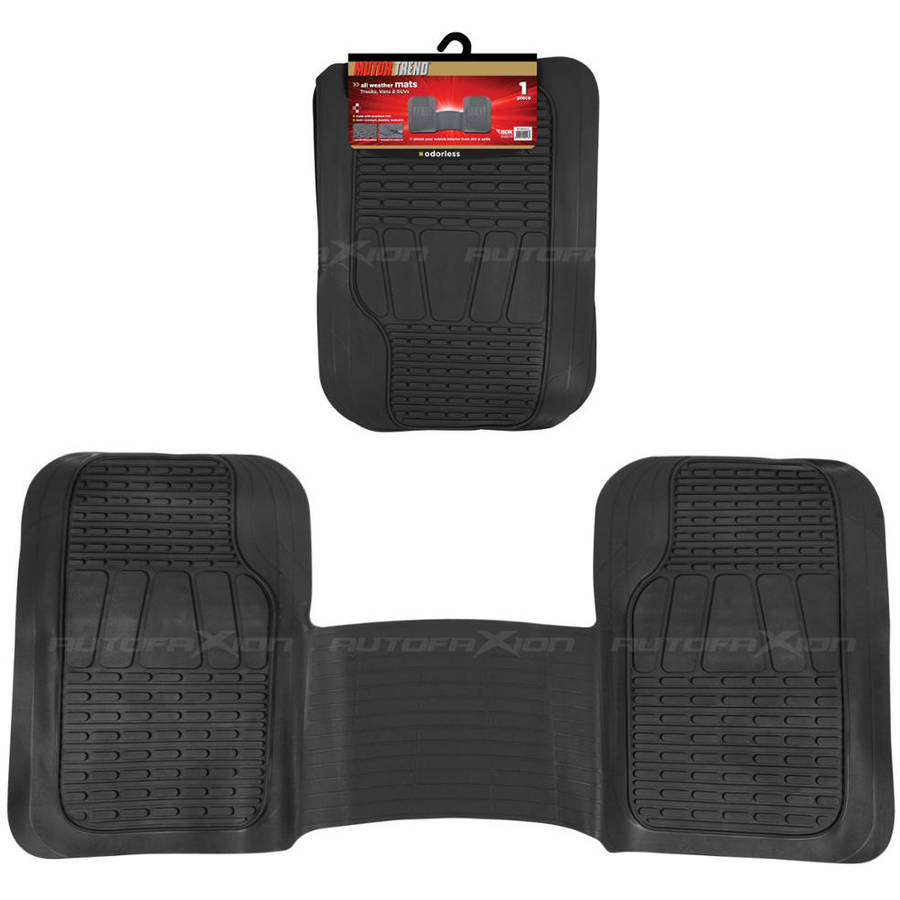 Motor trend 1 PC Heavy-Duty Car and SUV Floor Mat Liner, Trimmable, Black