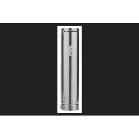 Selkirk 5 in. Dia. x 24 in. L Aluminum Round Gas Vent Pipe Metallic