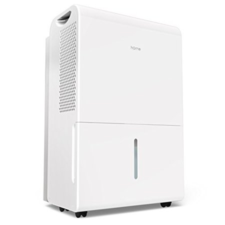 homelIs 6 gallon (50 pint) dehumidifier energy star safe mid size portIle dehumidifiers for basements large rooms up to 2500 sq ft with fan wheels and drain hose outlet to remove odor and