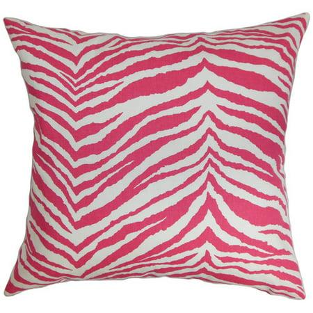 The Pillow Collection Cecania Zebra Print Cotton Throw Pillow Cover - Walmart.com