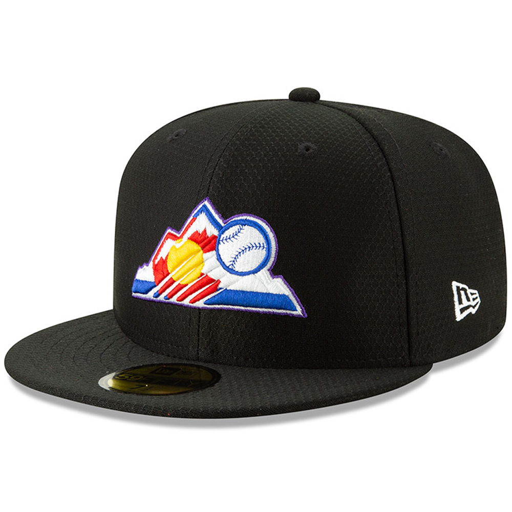 Colorado Rockies New Era 2019 Batting Practice 59FIFTY Fitted Hat - Black