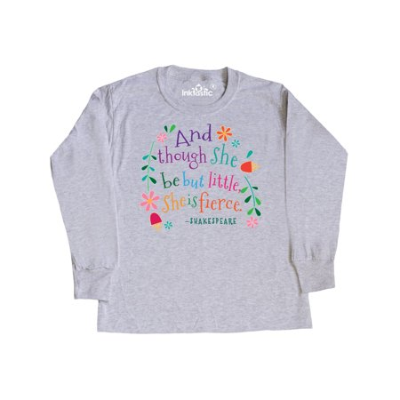 8663988432 Inktastic - She Is Fierce Funny Shakespeare Quote Gift Youth Long Sleeve T- Shirt - Walmart.com