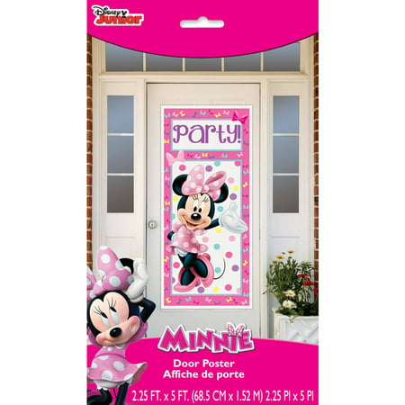 Plastic Bowtique Minnie Mouse Door Poster Party Decoration 60 X 27