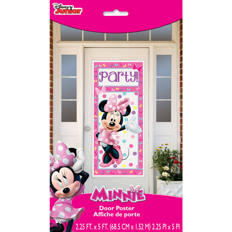 "Plastic Bowtique Minnie Mouse Door Poster, 60"" x 27"""
