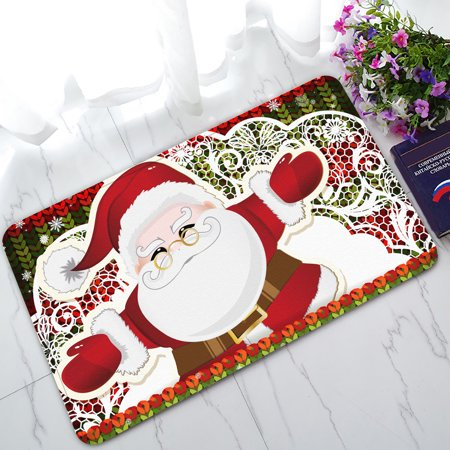 YKCG Red Christmas Santa Claus Winter Snowflakes Doormat Indoor/Outdoor/Bathroom Doormat 30x18 inches](Winter Door Decorations For Classrooms)