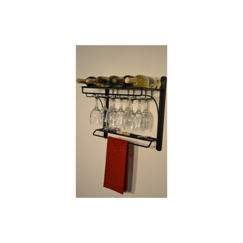 j u0026 j wire 5 bottle wall mounted wine rack