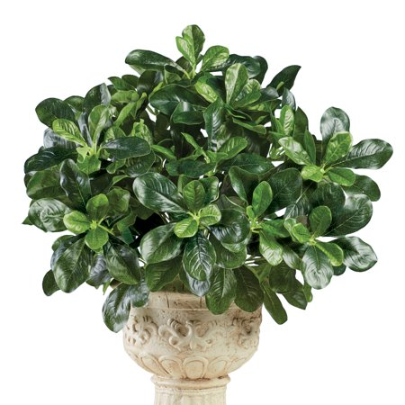 Artificial Shefflera Bushes - Set of 3 - Faux Shrubs, Plants - Realistic Touch, Greenery - For Indoor or Outdoor Use, Home, Garden, Office