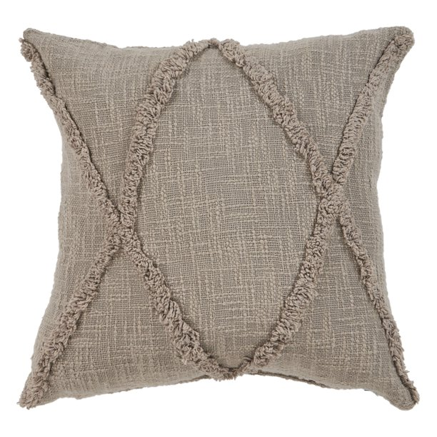 Solid Diamond Tufted Cotton Square Throw Pillow Taupe Brown 20 Count Per Pack 1 Walmart Com Walmart Com
