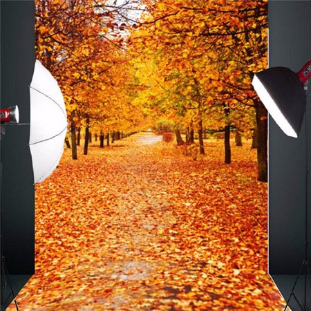 5x7FT Autumn Golden Forest Backdrop Curtain Wedding Party Photobooth Ceremony Event Photo Decorations Photography Backdrop Background Photo Studio Props