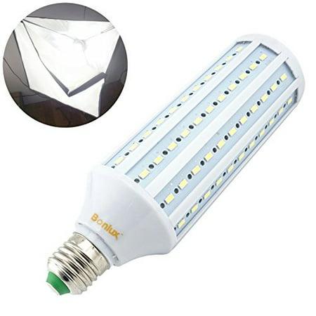 40w Blue Daylight Bulb (Bonlux 40W LED Studio Light Bulb Medium Screw E26 Base Balanced Full Spectrum Bulb for Photography and Video Studio Lighting, Daylight)