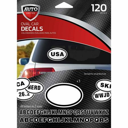 Autodrive diy oval car stickers