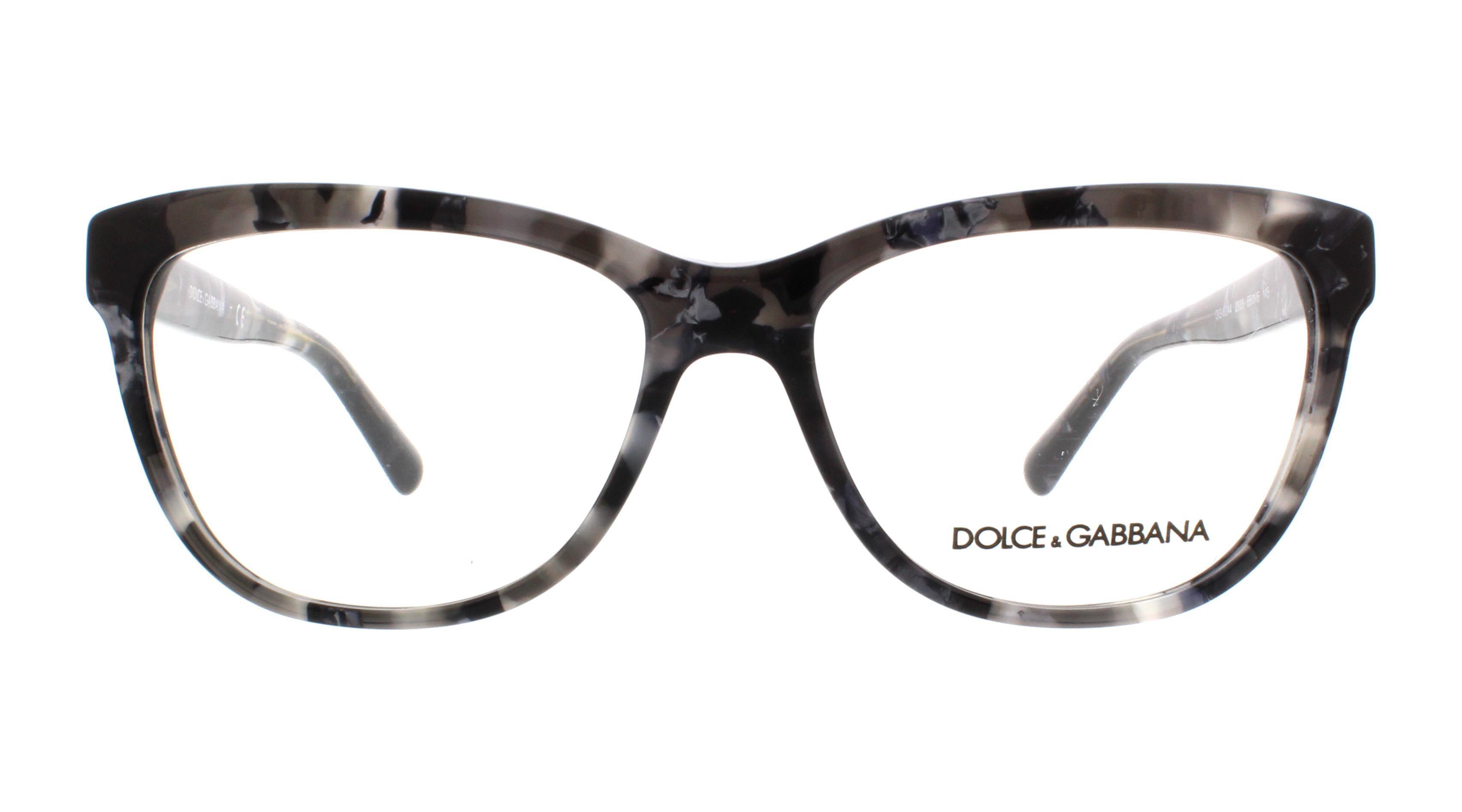 DOLCE & GABBANA Eyeglasses DG 3244 2933 Dark Grey Marble 55MM ...