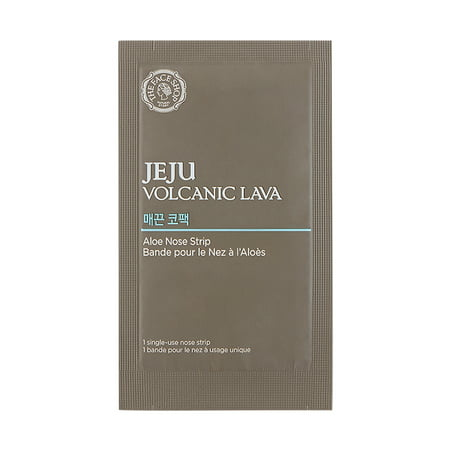 Volcanic Recharge - The Face Shop Jeju Volcanic Lava Aloe Nose Masks, 7 Strips