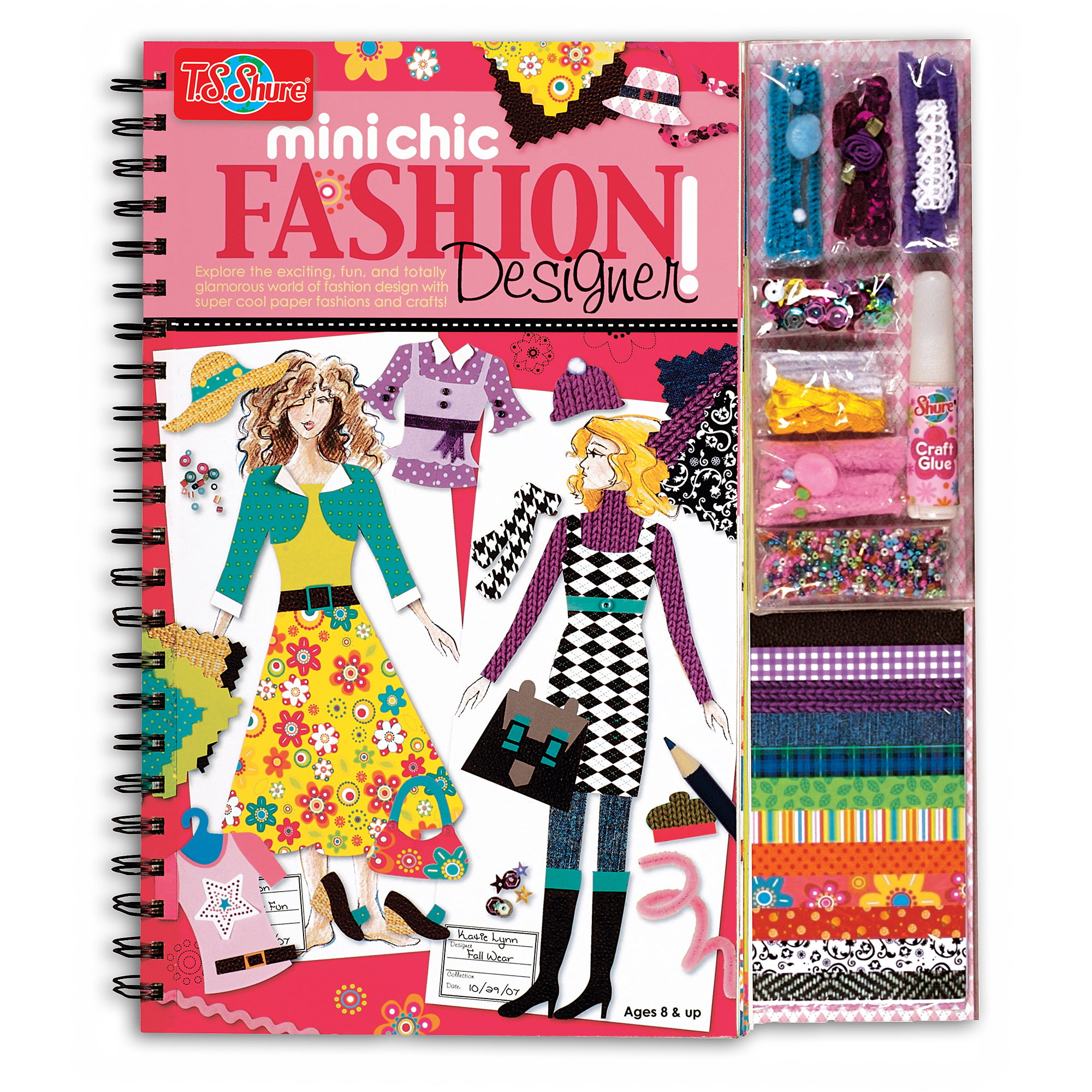 T S Shure Mini Chic Fashion Designer Book And Kit Walmart Com Walmart Com