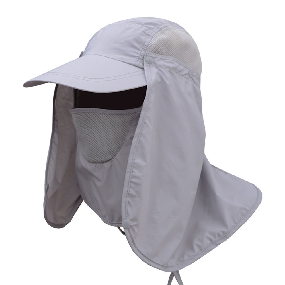 UV Sun Protection Waterproof Breathable Face Neck Flap Cover Folding Sun Hat for Men//Women Outdoor UPF 50