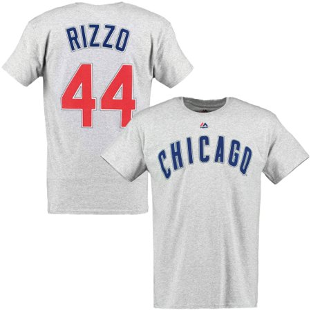 online store 7fb79 f82c2 Anthony Rizzo Chicago Cubs Majestic Official Name and Number T-Shirt - Gray